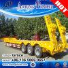세 배 차축 반 낮게 60 톤 평상형 트레일러 트레일러 굴착기 수송을%s 낮은 침대 트럭 트레일러