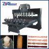 Varios jefes de la máquina rebajadora CNC para madera
