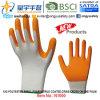 Criss-Cross перчаток нитрила пены раковины полиэфира 13G покрынный ладонью (N1000) на ладони с CE, En388, En420, перчатками работы