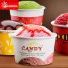 Los logotipos personalizados en papel impreso de la copa de helado