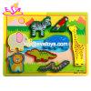 Venda por grosso de madeira pré-escolares barato Giraffe Puzzle para o bebé W14A199
