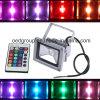 Resistente al agua 20W proyector LED, LED multicolor RGBW Prodection Control remoto de la lámpara con aprobación CE RoHS