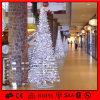 백색 상점가 훈장 크리스마스 나무 빛