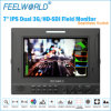 7  3G/HD-Sdi duels Monitor pour Broadcasting Radio Equipment