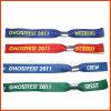 Expositions et bracelet colorés de tissu de foires (PBR019)