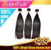 Natürliche hochwertige menschliche malaysische seidige gerade Jungfrau-Haar-Extension Lbh 132