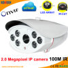 Weatherproof 100m IR P2p 2.0 Megapixel IP Web Camera