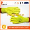 Gant jaune de travail enduit par unité centrale de Ddsafety 2017 Nylong