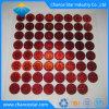 Segurança personalizada verdadeira autenticidade vermelho autocolante com holograma