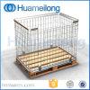 Maille pliant l'euro palette de cage en métal