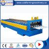 A máquina anterior colorida hidráulica do rolo de aço da telhadura do metal lamina a formação da maquinaria