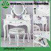 白いカラー5引出しが付いている木製の化粧台(W-HY-018)