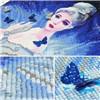 Exporteur die van Kunst DIY het Dwars Schilderen van de Vrouw van het Beeldverhaal van de Diamant van de Steek schilderen
