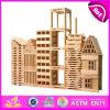 Le jouet en bois de 2014 synthons de nouveaux chevreaux, blocs en bois de jouet d'enfants créateurs, école maternelle joue le bloc en bois W13A058 de bébé de bâtiment