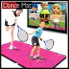 Twin Wireless Dance Mat 16 Bit para TV y PC con 56 juegos 180 canciones