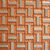 Mozaïek van het Glas Backsplash van het trio het Oranje Foiled met Metaal