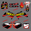 Sporcizia Bike Stickers&Motorbike&Motocross Stickers per Honda Crf250r Crf250 Motorcycle 2008 2009 (DST0158)