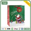 Sac de papier de sac de Noël du cadeau vert de vieil homme