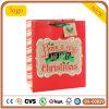 Sac de papier de estampage d'un rouge ardent de cadeau de Noël