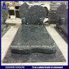 De Grafsteen van Frankrijk van de metselaar in het Blauw van Labrador met Vaas en Kruis