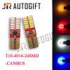 Luz de porta amarela azul branca vermelha do preço de fábrica T10 Canbus