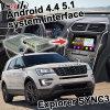 Android Market 5.1 4.4 Caixa de navegação GPS para a Ford Explorer Sync3 Interface de Vídeo Tela Fundido