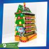 Afficheur de palette de carton de supermarché POS pour produits de Noël au chocolat