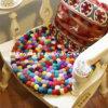 Almofada pura Handmade de /Cup do tapete da esfera de lãs para a HOME