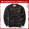 OEMはフード(ELTSTJ-755)なしで整備する印刷されたプルオーバーのスエットシャツを