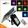 Luz de inundación solar accionada solar del RGB de la luz del jardín de 56 LED