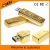 Movimentação dourada do flash do USB da barra para a venda quente do negócio