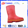 Nova bota vermelha de PVC à prova de chuva para senhora (TNK60031)