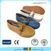 Zapato de goma del holgazán de Outsole de la alta calidad de cuero de la guarnición