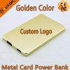 De gouden Bank van de Macht van de Kaart van het Metaal met Capaciteit 4000mAh voor Mobilofoon/iPad