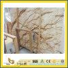 Galette d'or Polished de marbre de coucher du soleil pour la partie supérieure du comptoir/dessus de vanité