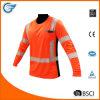 Chemise de sécurité à manches longues imperméable à l'humidité haute visibilité