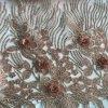Ricamo del fiore su rete con le pietre e le perle qualunque altri disegno e colore