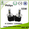 Kit luminoso eccellente H4h/L del faro di H 10400 Lm L5200lm Philips LED