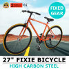 bicyclette fixe de Fixie de vitesse Fixie de PRO de route de 27  vitesse simple orange de vélo