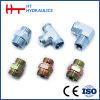 Adattatore idraulico maschio metrico del montaggio di tubo flessibile del acciaio al carbonio