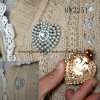 진주 심혼 의복 클립 (HW3251)를 가진 모조 다이아몬드