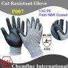 13G PE вязаные рукавицы с NBR покрытием для рук/ EN388: 454 X