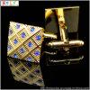 古典的なカフスボタンの金のカフスボタンのワイシャツの袖口(Hlk30918)