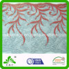 Lurex Glitter Yarn auf Floral Lace Fabric Embroidery Lace