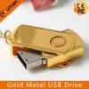 도매 금 회전대 금속 USB 플래시 디스크 (YT-1210)