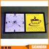 Letrero publicitario de interior del LED con el reloj