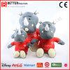 Brinquedo macio do rinoceronte do animal enchido do luxuoso da promoção para miúdos