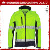 Olá! Vis Fluorescent Safety Work Jacket com Reflective Stripes