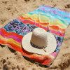 100%年の綿はCustomeジャカードベロアのビーチタオルを作った