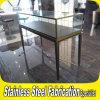 Keenhai顧客用ステンレス製Steel+Clearのガラス宝石類の陳列台